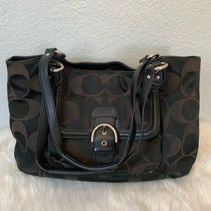 Coach black medium shoulder bag/purse